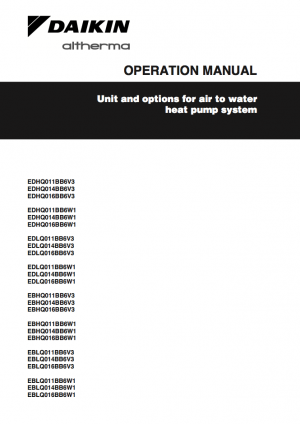 Operation Manuals Daikin